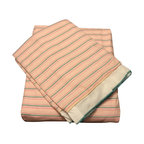 raziascloset - Lite Coral 100% Cotton Flat Bed Sheet Set - 100% Cotton Flat bed sheet set with two sided frills and 2 Pillow cases with 4 sided frills. King size