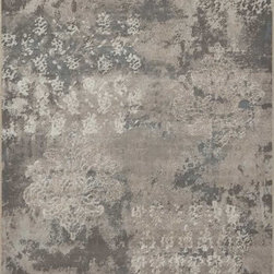 """Dynamic Rugs - Dynamic Rugs Mysterio 1220-900 (Silver) 7'10"""" x 10'10"""" Rug - Colorations in this new collection features the interlacing of metallic tones, from pewter to lighter silver, and natural shades of browns, beiges and Ivory in transitional designs to complement today's modern, high fashion looks in home decoration. The rugs are power woven in Belgium with a dense heat set polypropylene pile. In the construction random double pointing density and drop stitch weaving techniques are used to create lovely textured finishes which are evident both visually and to the touch."""
