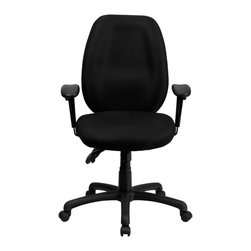 Flash Furniture - Flash Furniture Office Chairs Mesh Executive Swivels X-GG-KB-H1916-TB - Get great comfort in this Multi-Functional Ergonomic Task Chair that features several adjustments to meet your seating needs. This chair features a comfortably padded seat and back with built-in lumbar support for long hour work days. The triple paddle control lets you adjust the pneumatic seat height, locking seat tilt and locking back tilt all at your fingertips. [BT-6191H-BK-GG]