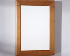 """19"""" Bamboo Vanity Mirror - This Bamboo Mirror, made from environmentally friendly materials, is designed to go perfectly with our Bamboo vanity cabinets. This mirror features a sleek design and a natural Bamboo finish."""