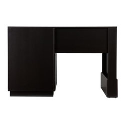 Holly and Martin - Torres Desk - Black - Tired of fighting a desk that doesn't offer adequate storage and a style you love? The ample space and simple lines of this desk will make working at home feel a lot less like work.