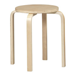 Linon - Linon Bentwood 17.5 Inch Natural Counter Stool (Set of 4) - Linon - Bar Stools - 1771NAT04ASU - The simple yet sturdy design of this Linon Bentwood counter stool will provide the extra seating you need in your kitchen dining and home pub area. The stools are stackable allowing for quick and easy storage when the dinner party's over. With its natural wood finish this stool will softly compliment any space letting you be the center of attention naturally.Features:
