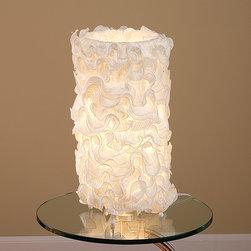"""Lumisource - Lace Table Lamp, Cream - 10"""" Diam. x 18"""" H"""