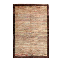 """Darya Rugs - Darya Rugs Modern, Brown, 4'6"""" x 6'8"""" M1614-431 - Darya Rugs Modern collection represents a minimalistic, timeless statement that complements transitional, contemporary, and traditional interiors. All rugs were hand-knotted by skilled artisans and weavers."""