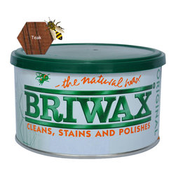 Briwax International - Briwax Original Furniture Wax 1 Lb, Teak, 16 Oz. - Briwax, Original Wax Polish is a blend of pure beeswax, carnauba wax and cleaners. Briwax is ideal for floors, cabinets and millwork as well as leather, marble, metal and concrete and yet is gentle enough for the finest antiques. Briwax cleans and reconditions wood finishes. Briwax stains, seals and finishes new wood in one easy step. It retards oxidation on metal surfaces.