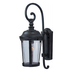 Maxim - Maxim Dover DC 1-Light Bronze Seedy Glass Wall Lantern - This 1-Light Wall Lantern is part of the Dover Dc Collection and has a Bronze finish and Seedy glass. It is Wet Rated and Outdoor Capable.