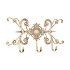 """Renovators Supply - Hooks Bright Solid Brass 24"""" L x 12"""" H Coat Hook 