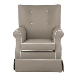 Gus Glider by Oilo - Oilos collection of gliders embraces style,comfort,and sophistication,making it the perfect glider for your nursery. Made in the USA from water repellent and stain resistant faux leather.