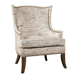 Hooker Furniture - Paris Accent Chair - You'll experience Paris without leaving your home in this fabulous accent chair. You can brush up on your French as you tour the chair and don't forget to admire the brass nail heads and lovely sculpting arms.