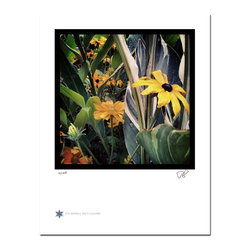 """London Flowers 05, Limited Edition, Photograph - """"London Flowers 05 is the fifth in a series of flower photographs taken on a rainy day in London at Victoria Gardens along the Thames River.   Technical Information:  This is a limited edition photograph produced on Epson Premium Presentation Fine Art Matte Media using an archival pigment. Each photograph is produced, signed and numbered by the artist. Only one hundred or fewer prints are produced in each series. Prints are delivered in a crystal clear presentation sleeve supported with a white backing board.   On 8.5 x 11 media the printed image is 7 x 7 inches, leaving a three quarter inch white border on three sides with a weighted bottom. This white border allows for for easy framing with or without a matte. Perfect for small spaces that need a splash of unique artistry.  Priority shipping is always FREE in the Continental United States!  Please feel free to contact me with any additional questions you may have."""""""