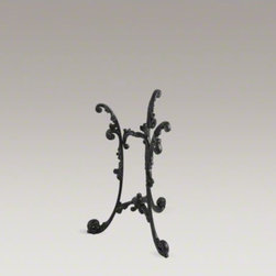 KOHLER - KOHLER Iron Works(R) Historic cast iron console table - Iron Works evokes the nostalgic charm of ornate antique furniture. Intricate details and sensuous shapes lend warmth and grace to your bathroom, while cast iron construction ensures long-lasting beauty. This pedestal fits the Iron Works sink for a coordin