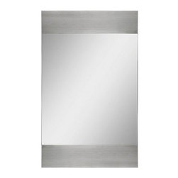 Ren-Wil Aluminum Accented Wall Mirror - 22W x 36H in. - There's really no better example of modern design than the perfectly sleek Ren-Wil Aluminum Accented Wall Mirror - 22W x 36H in. gracing your wall. The streamlined rectangular mirror provides just the right amount of sparkle to any room. Contemporary aluminum panels flank the design for a style that sets off the whole space.