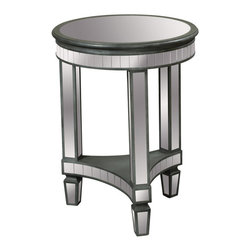 Sterling Industries - Sterling Industries 6043622 Nicosia End Table - Handcut Slatted Mirrors Highlight The Top And Shelf Of This Sturdy End Table. Hand Applied Antique Silver Finish Makes It The Perfect Accompaniment To The Traditional Or Contemporary Sofa Or Chair.  End Table (1)