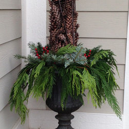Winter Container Display -