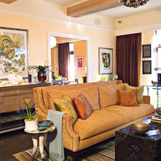 Eclectic Living Room by Adeeni Design Group