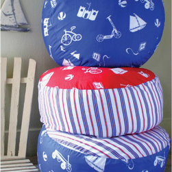 Pixie Dust Decor - Boys Toys Pouf Floor Pillow - Boys Toys Pouf Floor Pillow