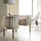 Hooker Furniture Mélange Fluted Kidney Desk - Features: