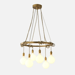Tangled Chandelier, Natural Brass