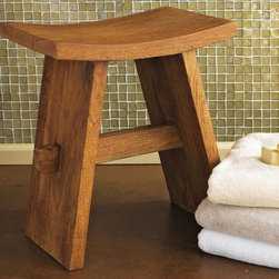 Teak Bath Stool - Create a spa-like atmosphere for guests by placing this teak stool at the side of the bathtub. Use it to hold towels, or even a book or two.