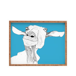 DENY Designs - Casey Rogers Goat Rectangular Tray - With DENY'S multifunctional rectangular tray collection, you can use it for decoration in just about any room of the house or go the traditional route to serve cocktails. Either way, you'll be the ever so stylish hostess with the mostess!