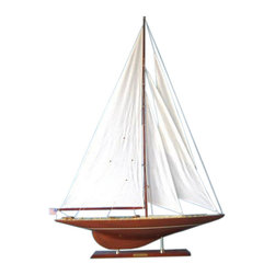 """Handcrafted Nautical Decor - Whirlwind Limited 50"""" - Sailboat Model - Not a model ship kit"""