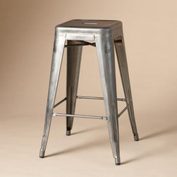 Mid-Century Stool by Tolix | Sundance Catalog - Bring some industrial mid-century style to your kitchen or studio with galvenized steel stools by Tolix.