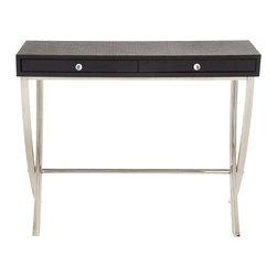 Superb Stainless Steel Wood Vinyl Console Table 4 - Description: