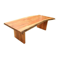 """Western Wood Dining Table 84"""" - This is the real thing! Solid wood. I mean Solid wood! Heavy and each piece different than the last. The tops are approximately 3 Inches Thick. This style can go with almost Everything, even contemporary if you so desire. Your table will look similar to the table in the picture but not exactly the same. This is a serious piece of furniture! Good luck. 84'' l x 30'' h x 44'' w """"Dimensions are approximate""""."""