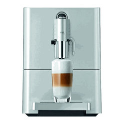 Jura Capresso - Jura Capresso Micro 9 One Touch Super Automatic Espresso Machine - Good things come in small packages; great ones come in even smaller packages! Here now is the world's smallest Super-Automatic Cappuccino Machine, the Jura-Capresso ENA Micro 9 One-Touch. The Micro 9 is 11% shorter than the preceding compact ENA line. This beautifully crafted machine in its Micro Silver color scheme with stainless steel bright work and elegant curved corners not only reflects the best of style, but also Swiss engineering excellence.  It is the ultimate space saving bean-to-cup machine that grinds the coffee beans, makes a perfect espresso and froths milk all with the push of just one button! By totally re-designing the brewing unit to maximize single-cup preparation the design team has been able to make the world's smallest machine that makes latte macchiatos and cappuccinos without moving the cup!