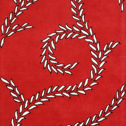 Alliyah Rugs - Alliyah Rugs Z n Z Rug Gallery 26020 (Red, Ivory) 5' x 8' Rug - This Hand Crafted rug would make a great addition to any room in the house. The plush feel and durability of this rug will make it a must for your home. Free Shipping - Quick Delivery - Satisfaction Guaranteed