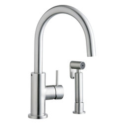 Elkay - Allure Stainless Kit Faucet w/SS - Product height: 3. Product min width: 11.13. Product depth: 19.75 Allure stainless kit fct w/ss. Fixed spout allure kitchen faucet with side spray residential lever handle fixed spout deck mount.