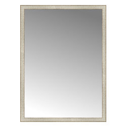 "Posters 2 Prints, LLC - 39"" x 53"" Libretto Antique Silver Custom Framed Mirror - 39"" x 53"" Custom Framed Mirror made by Posters 2 Prints. Standard glass with unrivaled selection of crafted mirror frames.  Protected with category II safety backing to keep glass fragments together should the mirror be accidentally broken.  Safe arrival guaranteed.  Made in the United States of America"