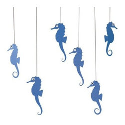 Flensted Mobiles Nursery Mobiles, Sea Horse, Blue - Flensted mobiles are my favorites for nurseries. They move so delicately with just the slightest bit of motion in the air. This sea horse version looks just perfect.