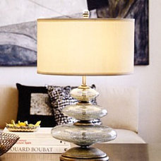 palecek glass disc lamp at Tuvalu Home Furnishings in Laguna Beach Coastal Beach