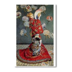 "PosterEnvy - Madame Monet in a Japanese Kimono - Claude Monet - Art Print POSTER - 12"" x 18"" Madame Monet in a Japanese Kimono - Claude Monet - Art Print POSTER on heavy duty, durable Satin 80lb paper"