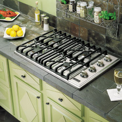"""Viking Professional Series VGSU1044BSS 30"""" Gas Cooktop - 30"""" Built-In Gas Cooktop with Four High Performance Sealed Burners, Continuous Grates, Automatic Electric Spark Ignition"""