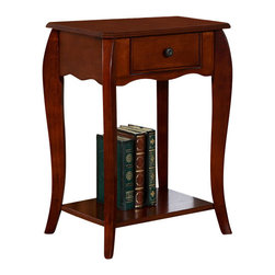 All Things Cedar - Chair Side Table - Classic Accents: A truly inviting selection of Classic Accent Furniture FEATURING Console Sofa Tables Wooden Wine Magazine Racks, Nesting Tables, and Glass Cherry Curio Cabinates. Item is made to order.