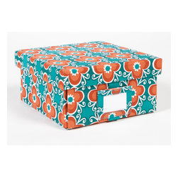 Working Class Studio - Re-Gift Collection Flora Box, Teal, Small - Great things come in pretty packages. Anything you give in this peppy floral box, complete with its own ID tag, is sure to be cherished.
