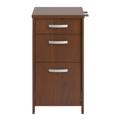 and filing space you need with this Envoy Collection Three-Drawer ...