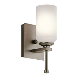Kichler Lighting - Kichler Lighting Ladero Modern / Contemporary Wall Sconce X-ZWS05924 - Experience the sophistication, originality, soothing comfort, and sleek sheen of this contemporary wall pendant. The satin etched cased opal glass provides translucent appeal for your living room, bedroom, bathroom, kitchen, dining room, den, dining room, or bungalow. The shadow bronze finish glistens with durability and outstanding quality so you can always enjoy the friendly sparkle.