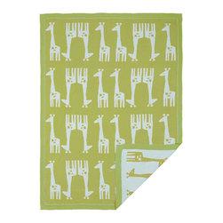 Lolli Living - Giraffe Mod Jacquard Knit Baby Blanket - Giraffe Mod Jacquard Knit Baby Blanket
