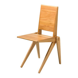 New Breed - New Breed Chair One - Adding a chair like this to your home is a pivotal step on the road to great design. Crafted of smooth white oak, it features a solid back and seat along with scissor legs that pivot on the central dowel so it can fold when not in use (which will be never).