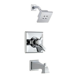Delta - Delta T17451-H2O Dryden Monitor 17 Series Tub and Shower Trim (Chrome) - Delta T17451-H2O Dryden Collection offers a design style reminiscent of the Art Deco period  with geometric line for a clean and appealing addition to you design style. The Delta T17451-H2O is a Monitor Tub And Shower Trim in Chrome.