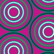 Dazzle Fuschia Circles by Melissa Averinos by TreasureBayFabric