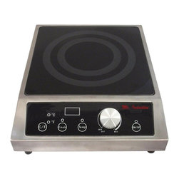 SPT Appliance - 2700W Countertop Commercial Induction Range - SmartScan� technology: voltage, pan size and type recognition. 5mm thick tempered glass cooktop. Choice of power or temperature mode . Power mode: 1-20 levels (250-2700W) . Temperature mode: 90-440�F (in 20�F increments, except 170-180/260-270/350-360�F). Large LED power/temp display. Displays in �F or �C. Simple knob-set thermostat control. Touch-sensitive controls and stainless steel body . Power ON/OFF touch pad with indicator light. Cook & Temp mode indicator lights. Over or under voltage protection. 5.9' power cord length. CETL / ETL-Sanitation to NSF-4Customize your food service facility and revolutionize your food preparation with the most advanced commercial induction equipment available. Ideal for demonstration cooking, suite service, catering and buffets. Features SmartScanT enhancement and COOK and TEMP modes. Restaurants use only.