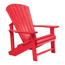 C.R. Plastic Products - C.R. Plastics Adirondack Chair In Red - Can be used for residential or commercial use, Ergonomically designed, Heavy 78 gauge plastic lumber 12 used by competitors, All stainless steel hardware, No painting, No slivers, No Rot, Completely waterproof