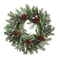 Silk Plants Direct - Silk Plants Direct Pine Cone and Pine Wreath (Pack of 2) - Pack of 2. Silk Plants Direct specializes in manufacturing, design and supply of the most life-like, premium quality artificial plants, trees, flowers, arrangements, topiaries and containers for home, office and commercial use. Our Pine Cone and Pine Wreath includes the following: