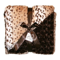 Snow Leopard Cream Throw