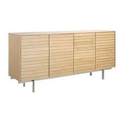 Punte Mobles - Sussex Tall Credenza with Drawers - Inspired by the shingled, angled roof of an ...