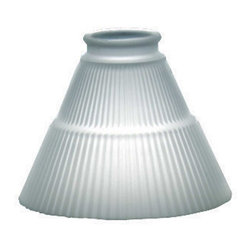 "Renovators Supply - Lamp Shades Frosted Glass 4 1/2"" H 2 1/4"" fitter Lamp Shade - This frosted replacement shade measures 4 1/2"" high and has a top diameter of 2 1/4"" and bottom diameter of 6""."